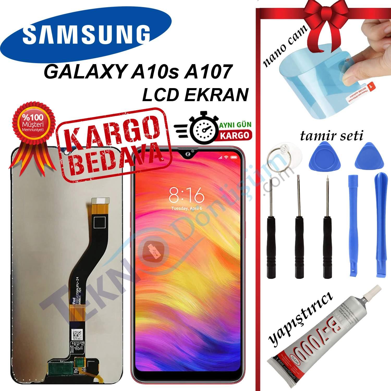 Samsung Galaxy A10S A107F LCD Ekran Dokunmatik Orijinal Revize