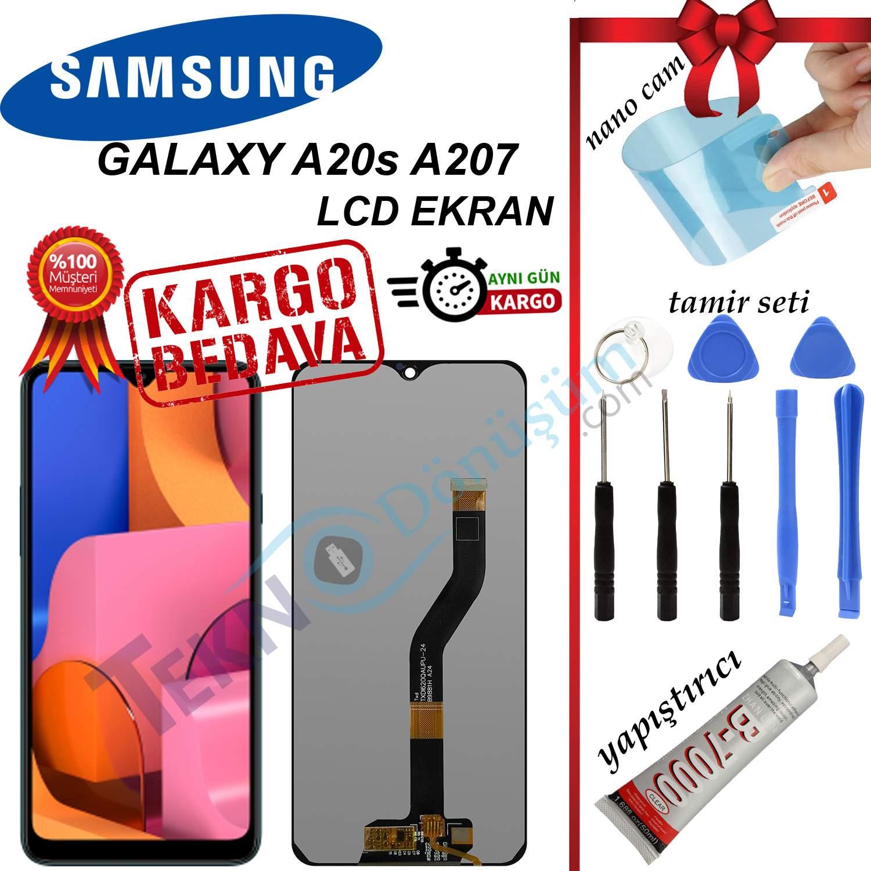 Samsung Galaxy A20S A207F LCD Ekran Dokunmatik Orijinal Revize