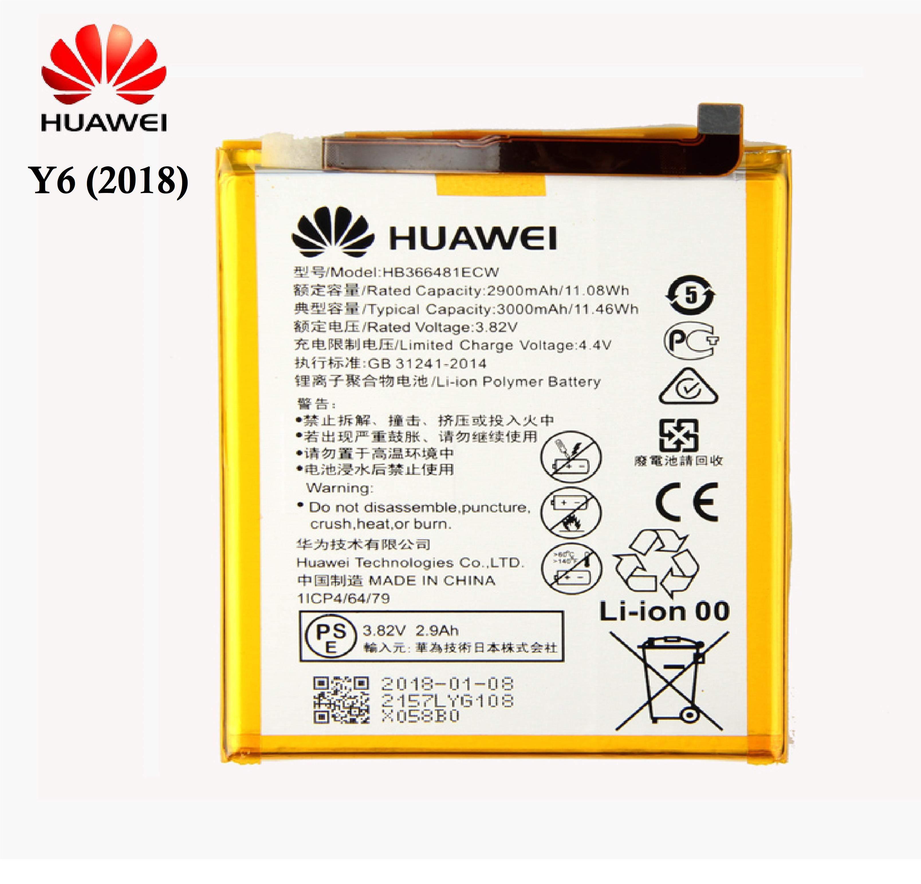 Huawei Y6 2018 HB366481EWC Orjinal Batarya Pil