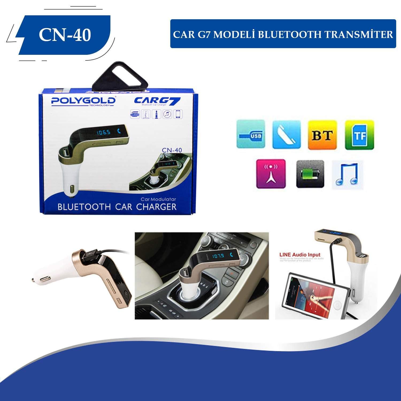 Car G7 Bluetooth Aux Araç Kiti Fm Transmitter MP3 Çalar Kit