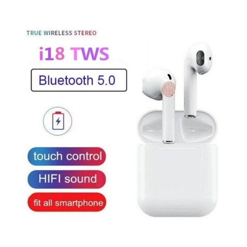 İ18 TWS Bluetooth Kulaklık Dokunmatik 5.0 TWS i18 Bluetooth 5.0