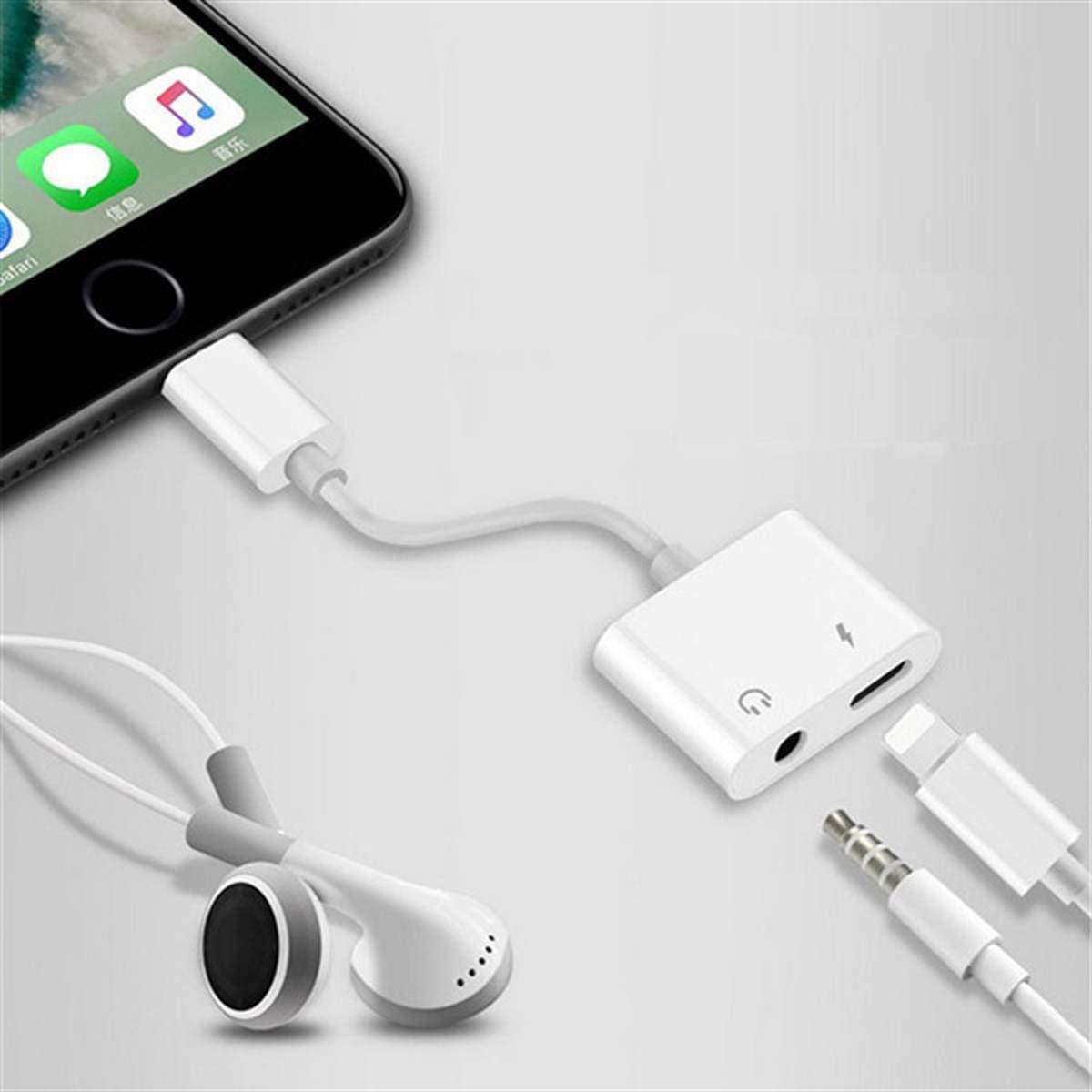 iPhone Lightning Kulaklık ve Şarj Adaptörü Dönüştürücü Çevirici