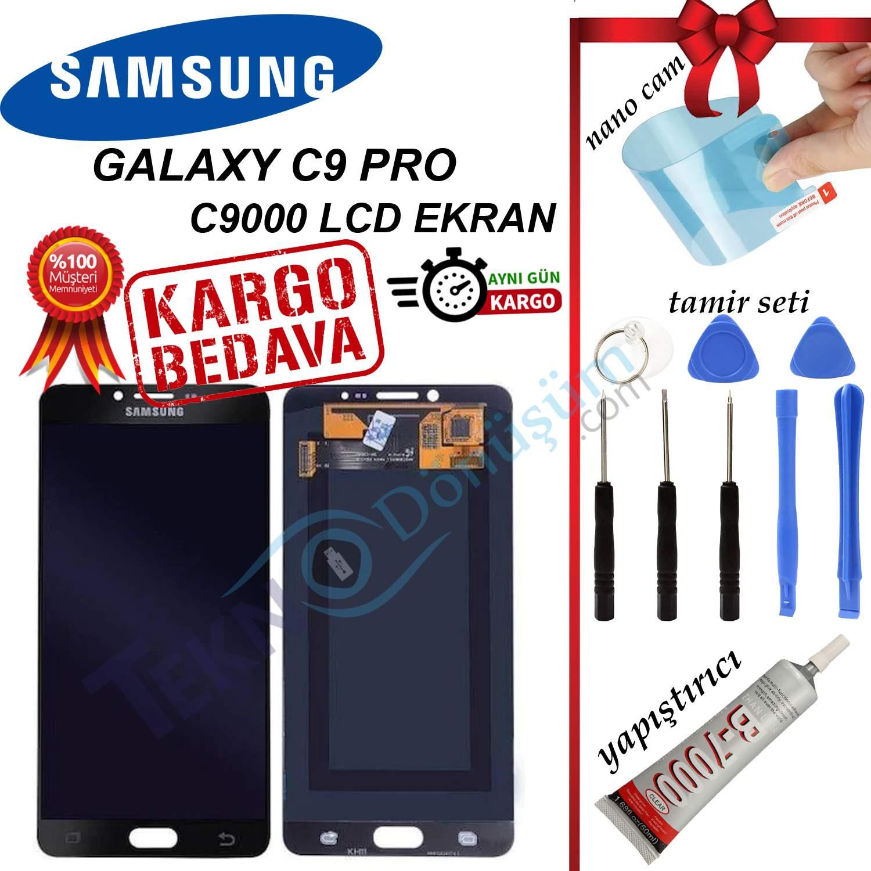 SAMSUNG C9 PRO (C9000) LCD DOKUNMATİK EKRAN ORJİNAL REVİZE