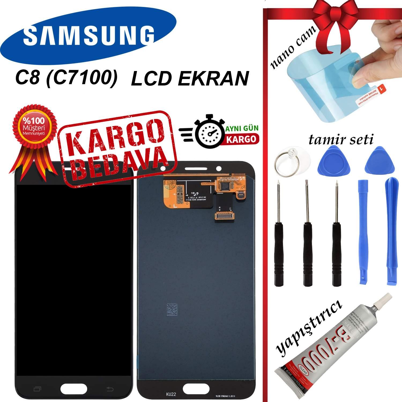 SAMSUNG C8 (C7100) LCD DOKUNMATİK EKRAN ORJİNAL REVİZE