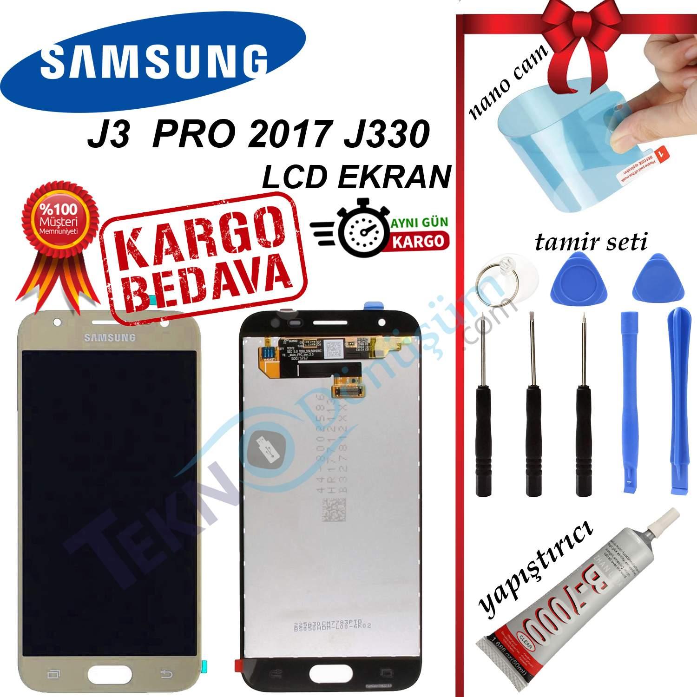 SAMSUNG J3 PRO 2017 (J330F) LCD DOKUNMATİK EKRAN ORJİNAL REVİZE