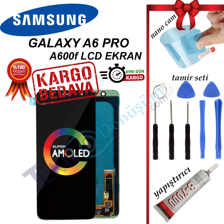 Samsung Galaxy A6 Plus A605F LCD Ekran Dokunmatik Orijinal Revize