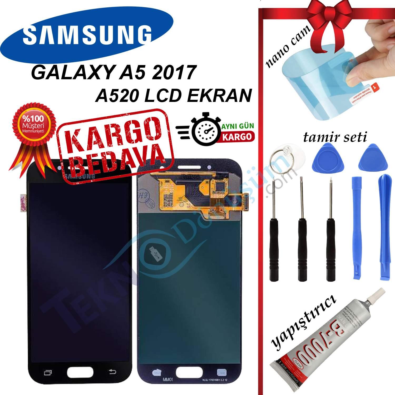 Samsung Galaxy A5 2017 A520 LCD Ekran Dokunmatik Orijinal Revize