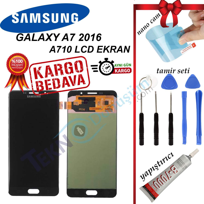 Samsung Galaxy A7 2016 A710F LCD Ekran Dokunmatik Orijinal Revize