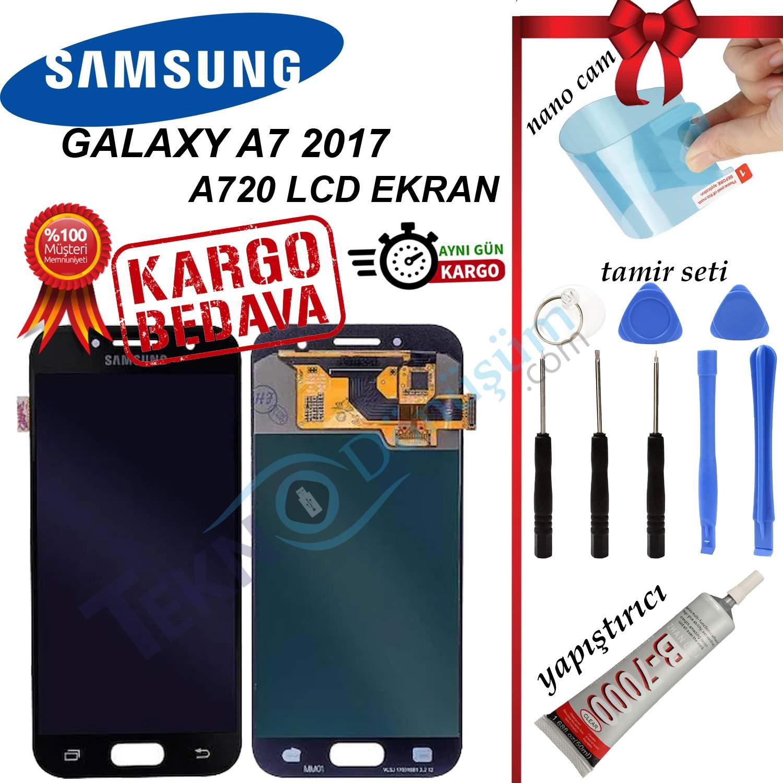 Samsung Galaxy A7 2017 A720F LCD Ekran Dokunmatik Orijinal Revize