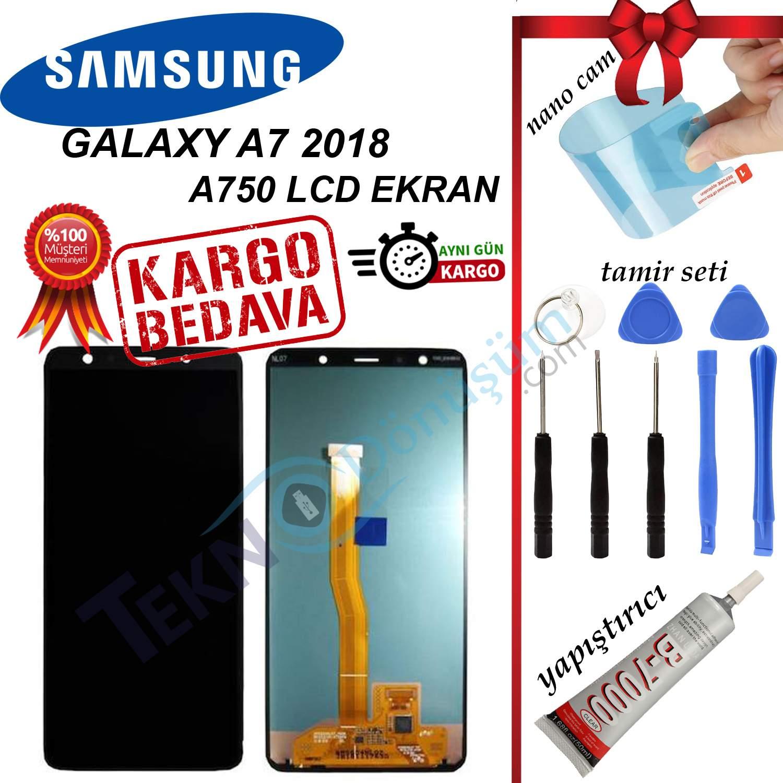 Samsung Galaxy A7 2018 A750F LCD Ekran Dokunmatik Orijinal Revize
