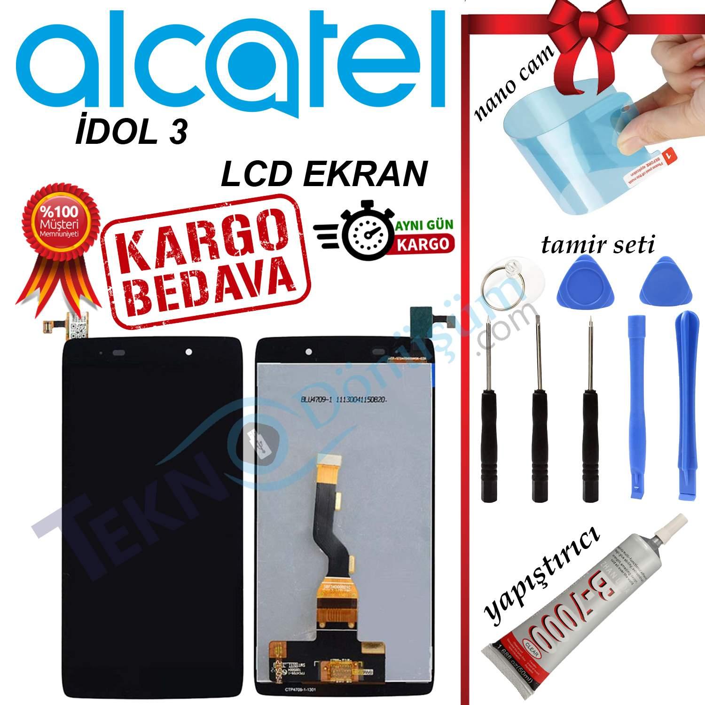 ALCATEL İDOL 3 ORJİNAL LCD DOKUNMATİK EKRAN