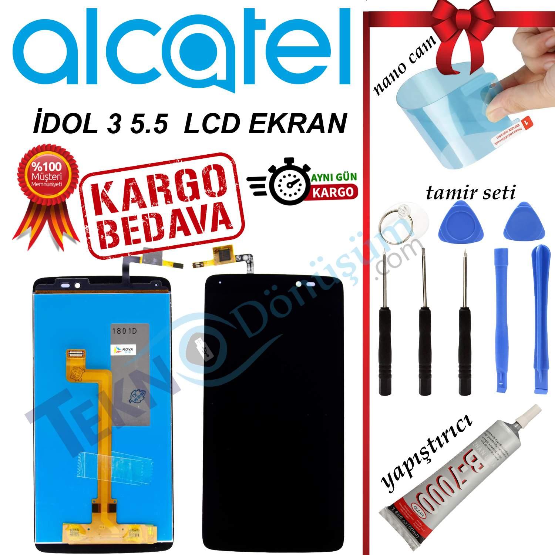 ALCATEL İDOL 3 5.5 ORJİNAL LCD DOKUNMATİK EKRAN