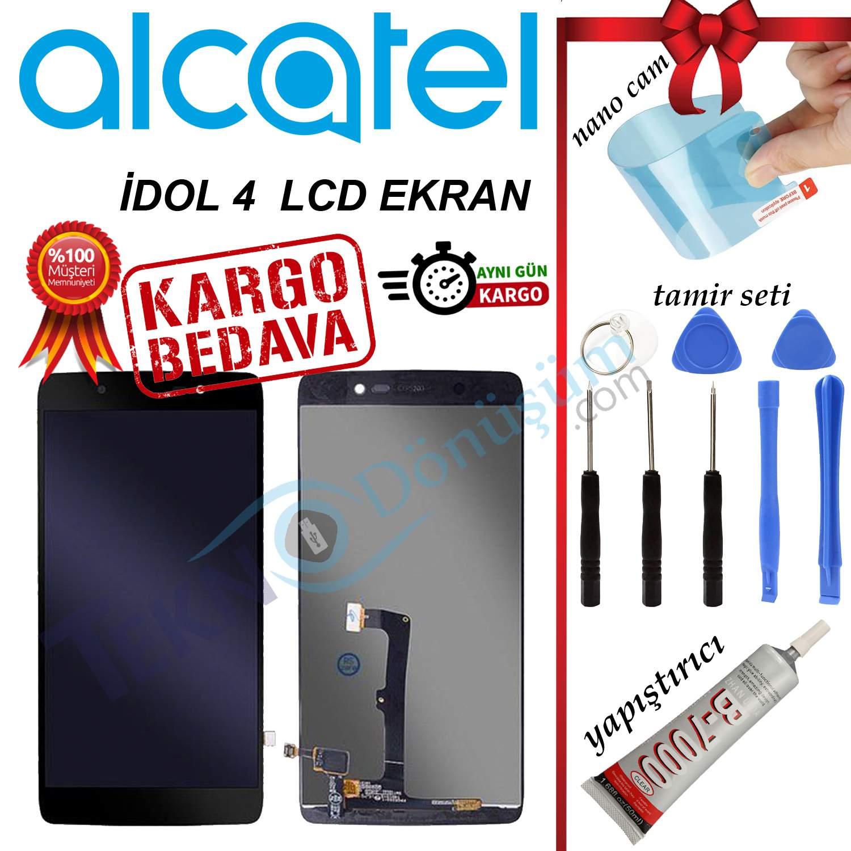 ALCATEL İDOL 4 ORJİNAL LCD DOKUNMATİK EKRAN